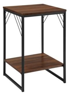 "Walker Edison 16"" Industrial Metal Accent Side Table"