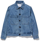 Denim Pocket Over Jacket Washed Blue
