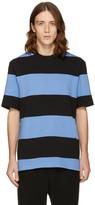 Alexander Wang Blue and Black Striped T-shirt