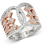 Bloomingdale's Diamond Art Deco Ring in 14K White & Rose Gold, 0.75 ct. t.w. - 100% Exclusive