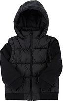 Appaman Channel-Quilted Tech-Fabric Convertible Jacket-BLACK