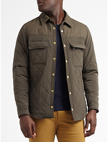 Scotch & Soda Contrast Panelled Quilted Jacket, Army