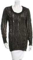 Avant Toi Open Knit Scoop Neck Sweater w/ Tags