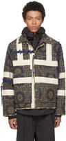 Craig Green Tan and Navy Block Print Jacket