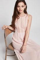 BCBGeneration Chiffon Lace Maxi Gown