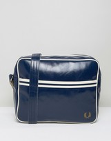 Fred Perry Classic Messenger Bag In Blue