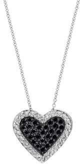 Effy 14K White Gold Diamond Heart Pendant