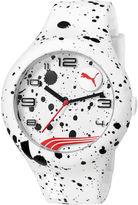 Puma Form XL White Splash Silicone Strap Watch PU103211020