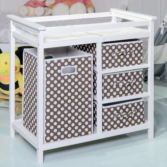 """Isabelle & Maxâ""""¢ Dagenham Changing Table with Pad and 3 Baskets and with Hamper Isabelle & Maxa"""