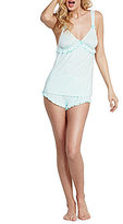 Betsey Johnson Blue by Ruffled Dotted Pajamas