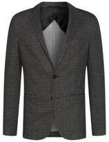 HUGO BOSS Patterned Jersey Sport Coat, Slim Fit Norwin 38R Black