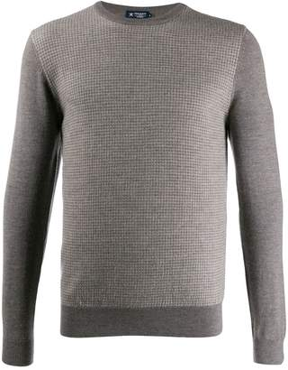Hackett Herringbone knit sweater