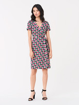 Diane von Furstenberg Julian Silk-Jersey Short-Sleeve Wrap Dress