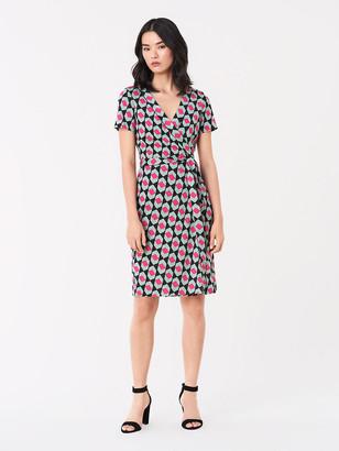 Diane von Furstenberg Julian Silk-Jersey Short-Sleeve Wrap Dress