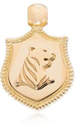 Foundrae 18kt yellow gold Tiger Audemus crest charm