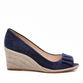Cosmo Paris Mayana Velour Leather Wedge Sandals