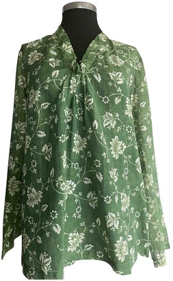 Massimo Alba Green Cotton Top for Women