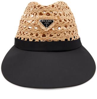 Prada Embellished Raffia And Shell Hat