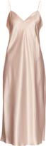 Saint Laurent Sleeveless silk-satin gown