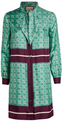 Gucci Silk Interlocking G Mini Dress