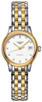 Longines Women's Two Tone Steel Bracelet & Case Automatic White Dial Analog Watch L42743277