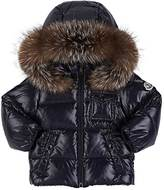 Moncler Kids' Fur-Trimmed Down-Quilted Hooded Coat