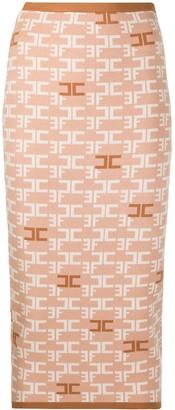 Elisabetta Franchi Logo-Print Pencil Skirt