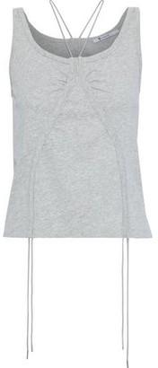 Alexander Wang Ruched Melange Cotton-jersey Tank