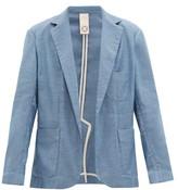 Marrakshi Life - Oversized Single-breasted Cotton-blend Blazer - Mens - Blue