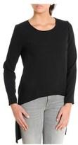 Atos Lombardini Women's Black Acetate Sweatshirt.