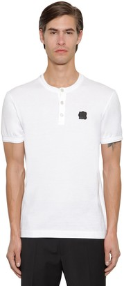 Dolce & Gabbana Cotton T-shirt W/ Rubber Logo