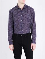 John Varvatos Paisley-print cotton and silk-blend shirt