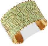 Lucky Brand Gold-Tone Patina Decorative Cuff Bracelet