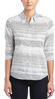 Foxcroft 3/4 Sleeve Woven Shirt.