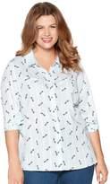 M&Co Plus printed dobby shirt