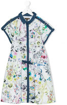 Roberto Cavalli floral print dress - kids - Cotton - 10 yrs