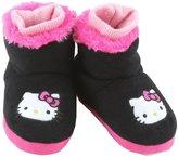 Hello Kitty Girls Plush Slipper Booties - 5/6