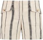 Tory Burch Edna striped silk-blend jacquard shorts