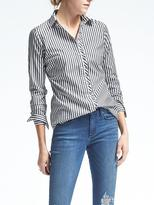 Banana Republic Riley-Fit Asymmetrical Ruffle Placket Shirt
