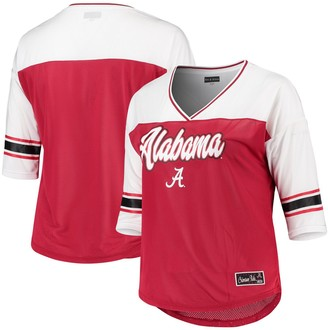 New Era Women's 5th & Ocean by Crimson Alabama Crimson Tide Plus Size Mesh 3/4-Sleeve T-Shirt