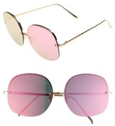 Leith Women's 62Mm Mirror Lens Rimless Sunglasses - Gold/ Mirrored