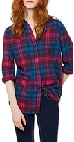 Joules Lorena Check Shirt, Navy Pink Check