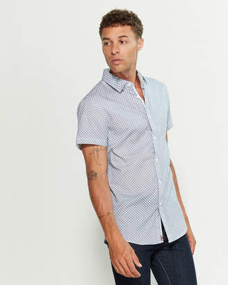 English Laundry Navy Geo Print Shirt
