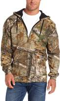 Carhartt Men's Midweight Sweatshirt Work Camo Hooded Zip Front,Realtree