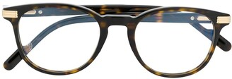 Cartier Havana round tortoiseshell-acetate glasses