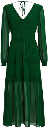 Intermix Adrianna Smocked Midi Dress