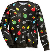 American Rag Men's Light It Up Holiday Sweatshirt, Only at Macy's