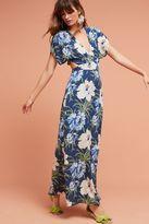 Anthropologie Santorini Wrap Maxi Dress, Blue