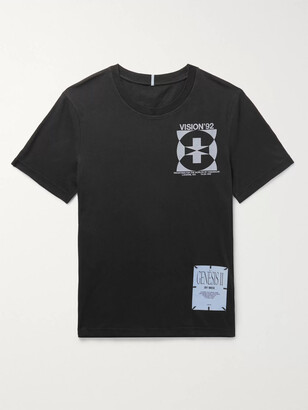 McQ Printed Appliqued Cotton-Jersey T-Shirt