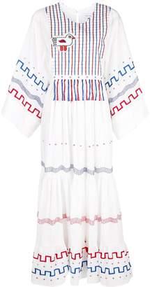 Mira Mikati Printed Tiered Dress